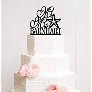 41ng84tc8NL._SS300_ Beach Wedding Cake Toppers & Nautical Cake Toppers