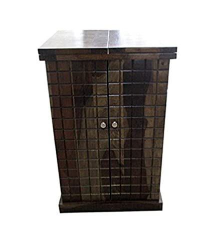 Ringabell Turtle Solid Woods Folding Bar Cabinet (Rich Honey Finish)