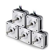 Nema 17 Stepping Motor, 5pcs Stepper Motor Nema 17 Bipolar Stepper Motor for 3D Printer DIY CNC Robot by MYSWEETY
