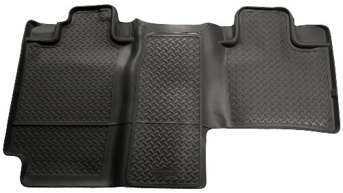 Husky Liners 2nd Seat Floor Liner Fits 04-08 F150 SuperCrew Cab, 06-08 Mark (Black Second Seat Floor Liners)
