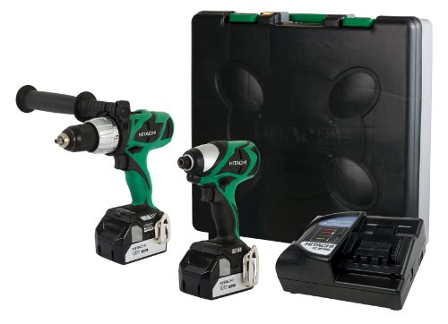 Hitachi KC18DJL 18-Volt Lithium-Ion Brushless Hammer Drill & Impact Driver Combo Kit (3.0Ah)