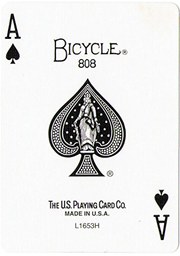 Red Back Bicycle Playing Card Force Deck (Spades, Queen)