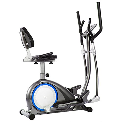 Body Power BRT6300 Fitness Promo! 3-in-1 Trio Trainer/Elliptical, Upright Stationary, and Recumbent Exercise Bike All in ONE Space Saving Machine