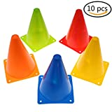 37YIMU Training Cones for Kid Adult Sports Set of 10 Training Traffic Cones 7 Inch Multipurpose Football Cones for Outdoor and Indoor Gaming and Festive Events