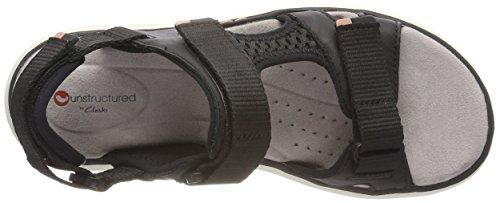 Clarks Damen Un Roam Step Slingback Sandalen Schwarz (Black Leather)