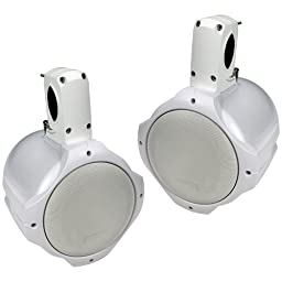 Q Power QPTS8W Loaded Marine-Tower Speakers, White
