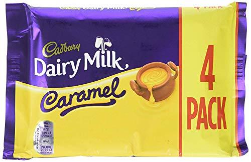 (Original Cadbury Dairy Milk Caramel Chocolate Bar Pack Imported From The UK)