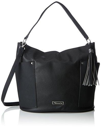 Tamaris Damen Edna Hobo Bag Schultertasche, 32x17,5x33 cm Schwarz (Black Comb.)