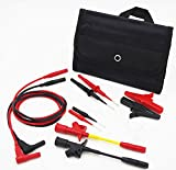 TestHelper TH-6-P-KIT Insulation 4mm Banana Test Lead Wire Kit Pierce Spring Test Probe Crocodile Clip Test for Multimeter Meter