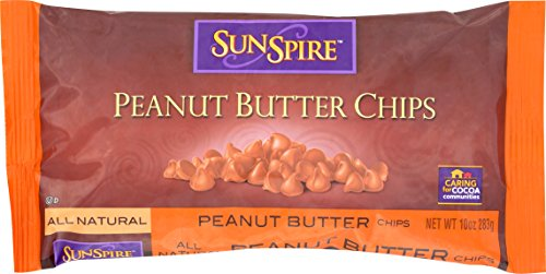 SunSpire Peanut Butter Baking Chips, 10 Ounce, 12 Count by SunSpire