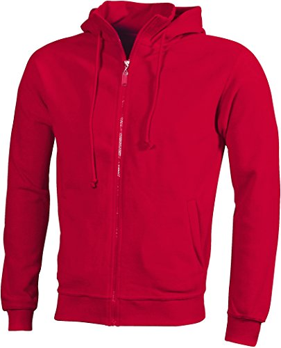 Giacca Trendy In Cappuccio Hooded Red Fleece Microfleece Con Jacket rqr6ndCA