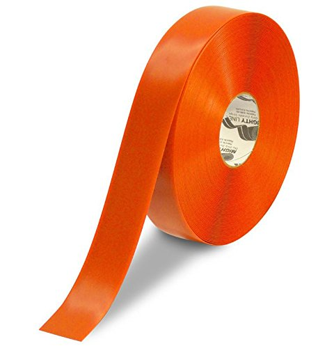 Mighty Line Floor Tape 2 inch Orange 100' Roll