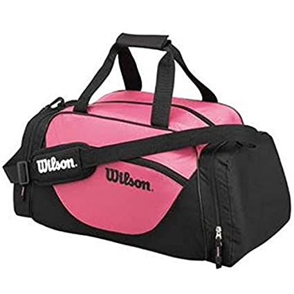 329b2b73525 Image Unavailable. Image not available for. Color  Wilson Sport Duffle Bag,  Black Pink