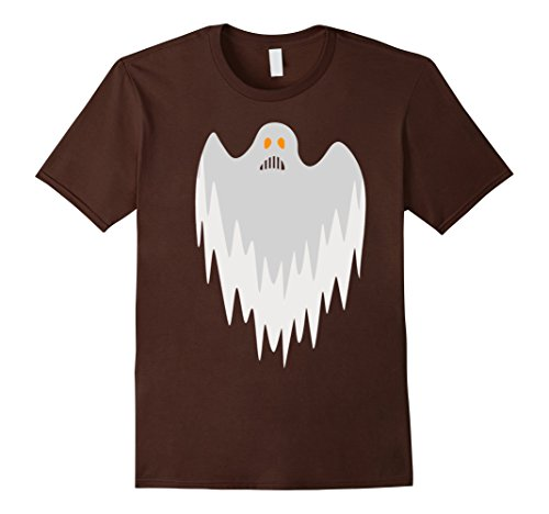 [Men's Scary Ghost Halloween T-Shirt Costume Large Brown] (Hilarious Costumes Ideas)