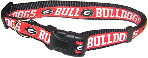 Pets First Collegiate Pet Accessories, Dog Collar, Georgia Bulldogs, Medium