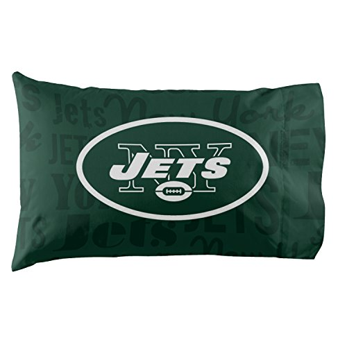 New York Jets - Set of 2 Pillowcases - NFL Football Bedroom Accessories