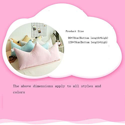 ALXLX Home Sofa Bed Back Detachable Pillowcase Crown Princess Room Mattress Cushion Pillow Soft Bag(90-120cm) (Color : Have a Nice Day, Size : 90×70cm)