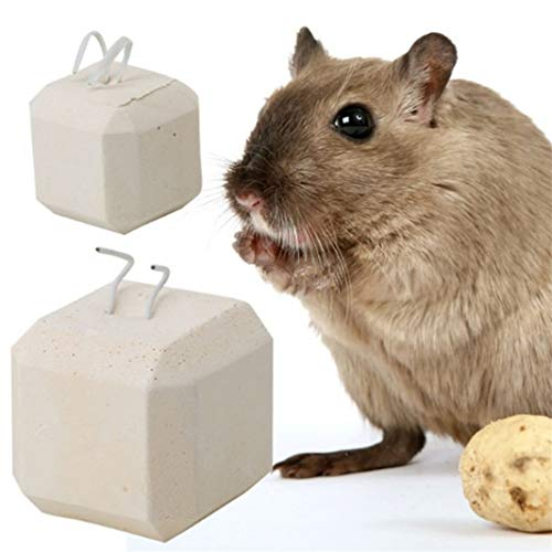 Guoshang Hamster Rat Chinchilla Rabbit Mineral Stone Calcium Chew Toy Teeth Grinder,Hamster Toys Accessories