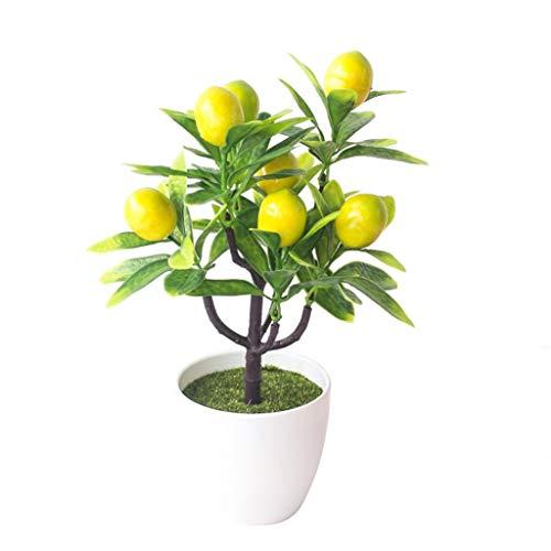 dezirZJjx Artificial Plants, Fake Flowers 1Pc Artificial Fruit Tree Miniascape Wedding Party Home Office Desk Bonsai Decor - Yellow Cherry Tomato