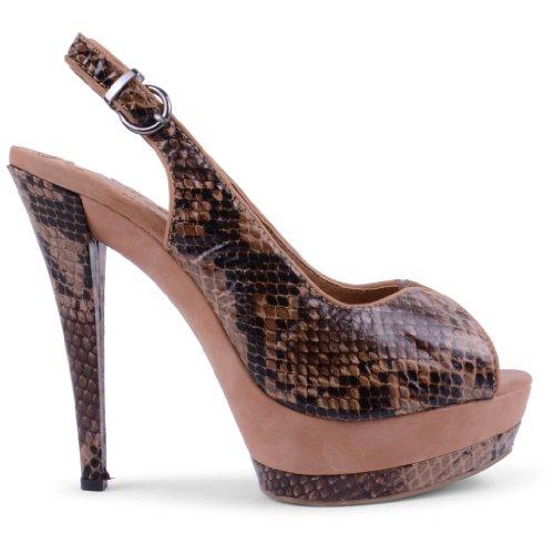Footwear Sensation - Zapatos de vestir de sintético para mujer marrón - canela