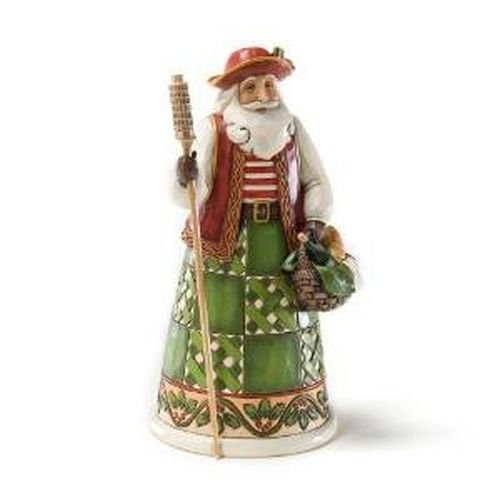 "Jim Shore Heartwood Creek Italian Santa Stone Resin Figurine, 6.875"" by Enesco"