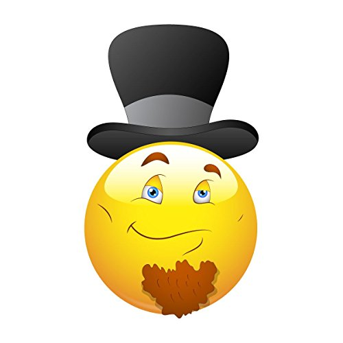 Supertogether Smile Lincoln Top Hat Emoticons Smiley Bumper Sticker Decal 12 cm