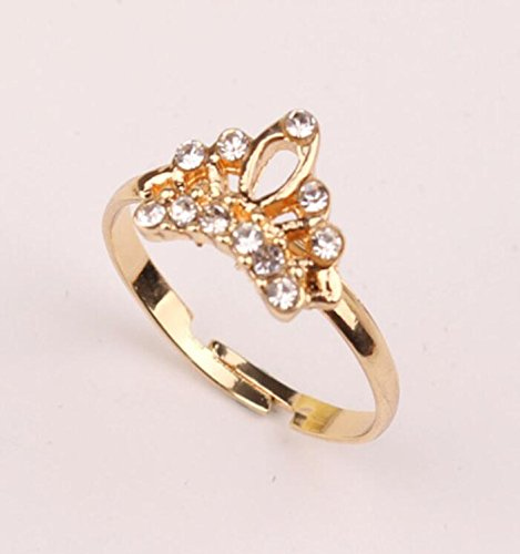 Unique Women's adjustable Delicate crown shape ring contracted style