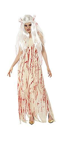 Ladies Halloween Blood Bride Costume Onesize US 4-10 (Onesize (US 4-10), Cream) -