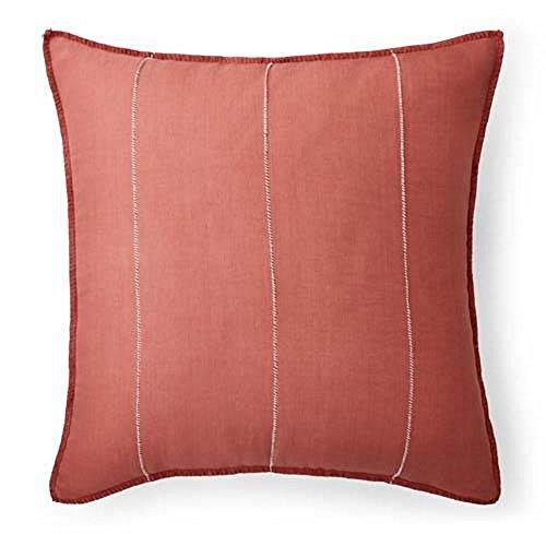 Ralph Coral Lauren Lauren - Ralph Lauren Cayden Coral Rustic Pillow Sham - European