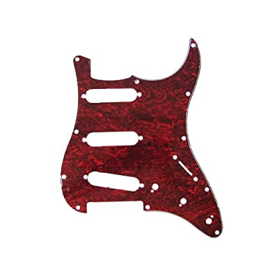 Musiclily SSS 11 Holes Strat Electric Guitar Pickguard and BackPlate Set for Fender US/Mexico Made