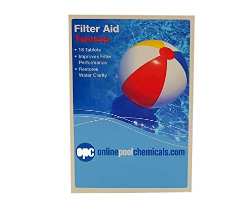18 Tablets OPC Filter Aid Tablets Swimming Pool Clarifier//Floc//Sparkle
