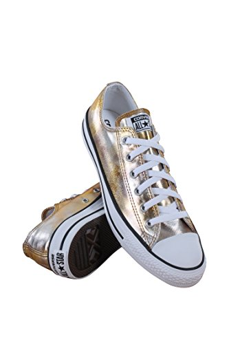 Converse Unisex Chuck Taylor Oxford, Silver/Gold/White, - Oxford Store Outlet