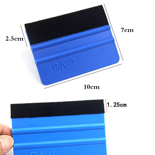 blue--net Vehicle Window Tint Tools Kit Car Wrap Window Tint Tool Kit Car Vinyl Wrap Tool Window Tint Kit for Auto Film Tinting Scraper Application Installation and Vehicle Decoration DIY Decals by blue--net (Image #2)