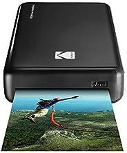 Kodak Mini 2 HD Impresora de Fotos Instantánea (Negro) 4Pass Tecnología Patentada. Compatible con iOS y Androi