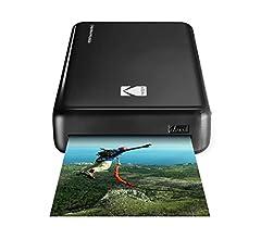 KODAK Mini 2 Impresora de Fotos instantánea (Rosado) Paquete de Regalo con Papel fotográfico (20 Hojas) y más.