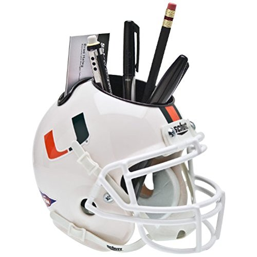NCAA Miami Hurricanes Mini Helmet Desk (Hurricanes Team Helmet)