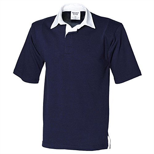 - Front Row Short Sleeve Rugby Shirt - Navy - 2XL
