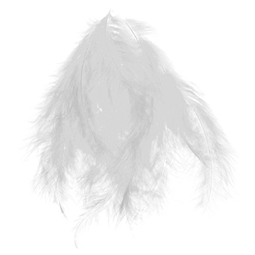 FLUFFY FEATHERS - SODIAL(R)100pcs Fluffy Marabou Feathers Party Wedding Trim Trimming Decor DIY 8-15 cm White