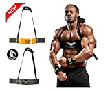 U APPAREL Arm Blaster by Ulisses Jr Premium Bicep Curl Support Isolator Heavy Duty Adjustable Bodybuilding Gym Curling Biceps Bomber Straps Pro Isolation Fitness for Arm Size & Strength