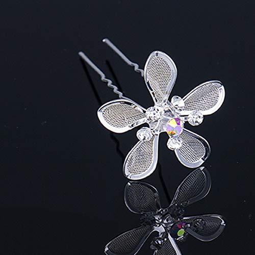 Women Hair Fork Hairpins Pearl Flower Hair Braid Bridal Headdress Design Wedding Hair Jewelry Accessories SP0419 25