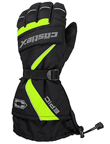 Castle X Epic-G1 Mens Snowmobile Gloves - Hi-Vis - - Gloves Windproof Epic