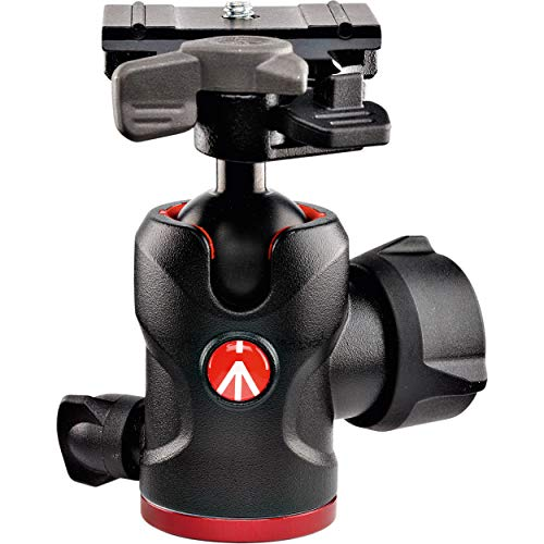 """Manfrotto 494 Aluminum Center Ball Head with 200PL-PRO Quick Release Plate, 3.9"""" Height, 17.6 lbs Capacity"""