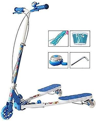 キックボード こどもスクーター スクーターバー、大人スクーター、スクーターホイール、キック折りたたみボーイキック、点滅音楽ペダルで調節可能とPuホイール、オーバー8Yr古いため年齢、リアブレーキ、非電気