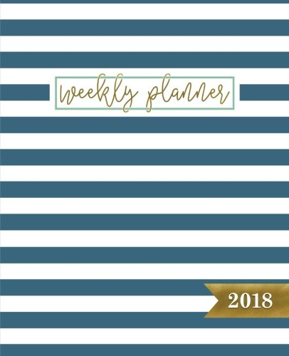 Weekly Planner: 2018 Weekly Planner & Organizer: Portable Format: Trendy Turquoise Stripe Pattern (Calendars, Planners & Personal Organizers)
