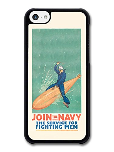Join The Navy Cool Vintage Retro Design coque pour iPhone 5C