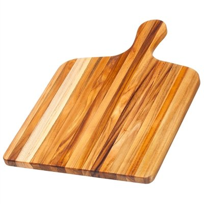 (Teak Cutting Board - Rectangle Gourmet Chopping Board With Handle (20 x 14 x .75 in.) - By Teakhaus)