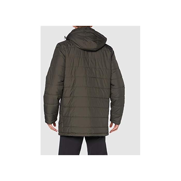 41ngHyWLdZL Abrigo corto acolchado Resistente al viento y al agua 100% Poliéster