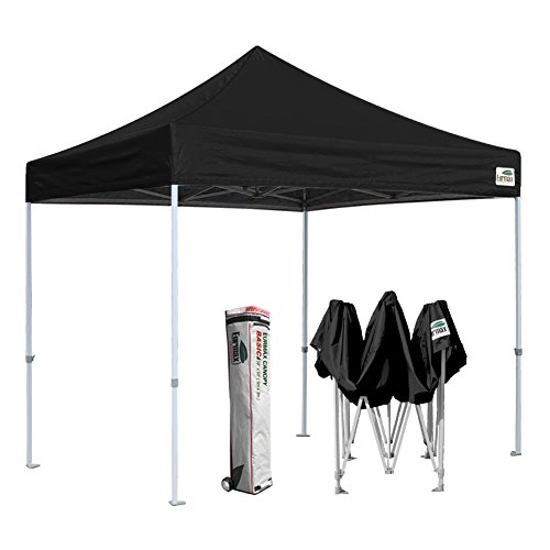 Eurmax Basic 10 X 10ft Ez Pop up Canopy Instant Outdoor Party Tent with Roller Bag (Black)