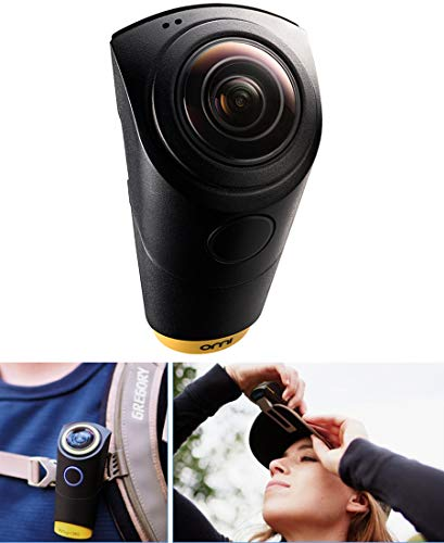 OMICAM Wearable VR Action Camera with 4K 240 Degrees Waterproof View Image Stablization Sports Travel Camera
