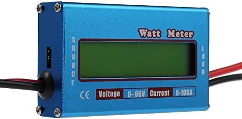 Medidor digital LCD de 60 V//100 A DC amper/ímetro de alta precisi/ón RC bater/ía Amp Analizador Herramienta Power Energy Watt Meter Azul